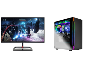"""Sceptre 27"""" QHD IPS LED Monitor 2560 x 1440P 2K HDR400 HDMI DisplayPort up to 144Hz 1ms Height Adjustable Build-in Speakers Gunmetal Black 2021 (E275B-QPN168) and Skytech Shadow Gaming Computer PC Desktop - Core i7-9700KF 8-Core 3.60 GHz RT"""