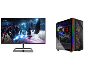 "Sceptre 27"" QHD IPS LED Monitor 2560 x 1440P 2K HDR400 HDMI DisplayPort up to 144Hz 1ms Height Adjustable Build-in Speakers Gunmetal Black 2021 (E275B-QPN168) and Skytech Chronos Gaming PC Desktop - AMD Ryzen 7 3700X 3.60 GHz RTX 3070 8 GB"