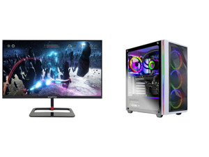 "Sceptre 27"" QHD IPS LED Monitor 2560 x 1440P 2K HDR400 HDMI DisplayPort up to 144Hz 1ms Height Adjustable Build-in Speakers Gunmetal Black 2021 (E275B-QPN168) and Skytech Chronos Gaming Computer PC Desktop - AMD Ryzen 7 3700X 3.60 GHz RTX 3"