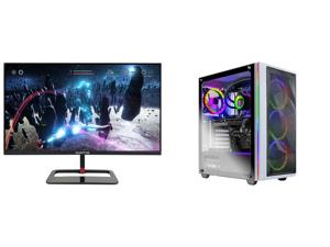 "Sceptre 27"" QHD IPS LED Monitor 2560 x 1440P 2K HDR400 HDMI DisplayPort up to 144Hz 1ms Height Adjustable Build-in Speakers Gunmetal Black 2021 (E275B-QPN168) and Skytech Chronos Gaming PC Desktop AMD Ryzen 7 5800X 3.80GHz NVIDIA GeForce RT"