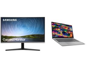 "Samsung C27R500 27"" Full HD 1920 x 1080 AMD FreeSync VGA HDMI Flicker-Free Curved LED Backlit Monitor and Lenovo Laptop IdeaPad 5 15ARE05 81YQ0009US AMD Ryzen 7 4000 Series 4700U (2.00 GHz) 8 GB Memory 512 GB PCIe SSD AMD Radeon Graphics 15"