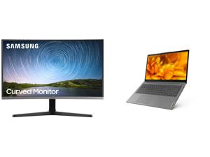 "Samsung C27R500 27"" Full HD 1920 x 1080 AMD FreeSync VGA HDMI Flicker-Free Curved LED Backlit Monitor and Lenovo Laptop IdeaPad 3 15ITL6 82H8000DUS Intel Core i7 11th Gen 1165G7 (2.80 GHz) 8 GB Memory 256 GB PCIe SSD Intel Iris Xe Graphics"
