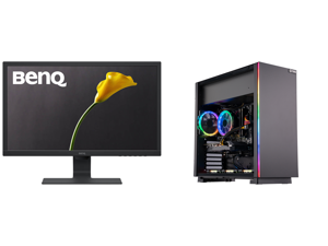 """BenQ GL2480 24"""" Full HD 1920 x 1080 1ms (GTG) 60 Hz D-Sub DVI HDMI Low Blue Light Flicker-Free Technology BenQ Eye-Care LED Backlit LCD Monitor and ABS Master Gaming PC - Ryzen 5 3600 - GeForce RTX 2060 - 16GB DDR4 3000MHz - 512GB SSD"""