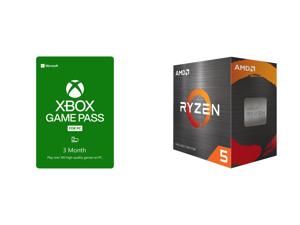 Xbox Game Pass for PC 3 Month Membership US [Digital Code] and AMD Ryzen 5 5600X 3.7 GHz Socket AM4 100-100000065BOX Desktop Processor