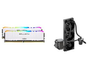 Crucial Ballistix RGB 3600 MHz DDR4 DRAM Desktop Gaming Memory Kit 16GB (8GBx2) CL16 BL2K8G36C16U4WL (WHITE) and CoolerMaster MasterLiquid ML360 SUB-ZERO Thermoelectric Cooling (TEC) AIO CPU Liquid Cooler Powered by Intel Cryo Cooling Techn