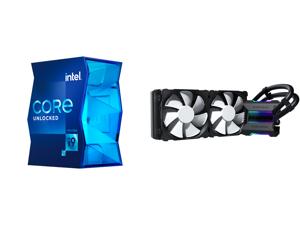 Intel Core i9-11900K 3.5 GHz LGA 1200 BX8070811900K Desktop Processor and Phanteks Glacier One 240MP D-RGB AIO Liquid CPU Cooler Infinity Mirror Pump Cap Design 2x Silent 120mm MP PWM Fans Black