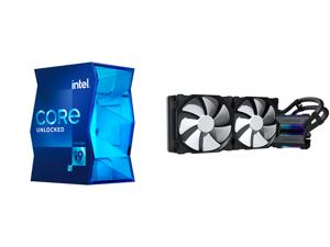 Intel Core i9-11900K 3.5 GHz LGA 1200 BX8070811900K Desktop Processor and Phanteks Glacier One 280MP D-RGB AIO Liquid CPU Cooler Infinity Mirror Pump Cap Design 2x Silent 140mm MP PWM Fans Black
