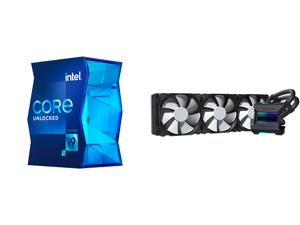 Intel Core i9-11900K 3.5 GHz LGA 1200 BX8070811900K Desktop Processor and Phanteks Glacier One 360MP D-RGB AIO Liquid CPU Cooler Infinity Mirror Pump Cap Design 3x Silent 120mm MP PWM Fans Black