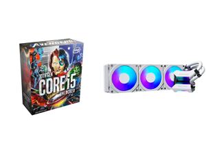Intel Core i5-10600KA Comet Lake 6-Core 4.1 GHz LGA 1200 125W Desktop Processor Intel UHD Graphics 630 - Avenger Special Edition (Avenger Game Not Included) - BX8070110600KA and Phanteks Glacier One 360MPH D-RGB AIO Liquid CPU Cooler Infini
