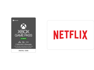 Xbox Game Pass Ultimate: 3 Month Membership US [Digital Code] and Netflix $30 Gift Card (Email Delivery)