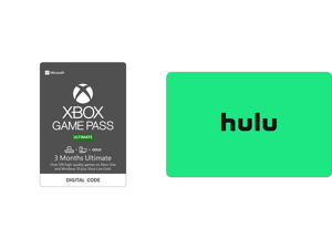 Xbox Game Pass Ultimate: 3 Month Membership US [Digital Code] and Hulu $25.00 Gift Card (Email Delivery)