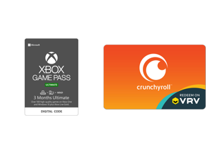 Xbox Game Pass Ultimate: 3 Month Membership US [Digital Code] and Crunchyroll $20 Gift Card (Email Delivery)
