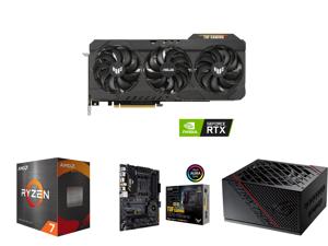 ASUS TUF Gaming GeForce RTX 3070 Ti 8GB GDDR6X PCI Express 4.0 Video Card TUF-RTX3070TI-O8G-GAMING and AMD Ryzen 7 5800X Vermeer 8-Core 3.8 GHz Socket AM4 105W 100-100000063WOF Desktop Processor and ASUS TUF Gaming X570-PRO (WiFi 6) AMD AM4