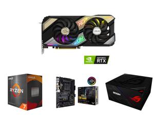 ASUS KO GeForce RTX 3070 8GB GDDR6 PCI Express 4.0 Video Card KO-RTX3070-O8G-GAMING and AMD Ryzen 7 5800X Vermeer 8-Core 3.8 GHz Socket AM4 105W 100-100000063WOF Desktop Processor and ASUS TUF Gaming X570-PRO (WiFi 6) AMD AM4 (3rd Gen Ryzen