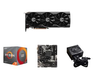 EVGA GeForce RTX 3060 Ti FTW ULTRA GAMING Video Card 08G-P5-3667-KL 8GB GDDR6 iCX3 Cooling ARGB LED LHR and AMD RYZEN 7 3700X 8-Core 3.6 GHz (4.4 GHz Max Boost) Socket AM4 65W 100-100000071BOX Desktop Processor and ASRock B450M-HDV R4.0 AM4
