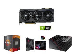 ASUS TUF Gaming GeForce RTX 3060 Ti 8GB GDDR6 PCI Express 4.0 Video Card TUF-RTX3060TI-O8G-V2-GAMING and AMD Ryzen 5 5600X Vermeer 6-Core 3.7 GHz Socket AM4 65W 100-100000065BOX Desktop Processor and ASUS ROG Strix B550-F Gaming (WiFi 6) AM