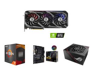 ASUS ROG Strix GeForce RTX 3070 8GB GDDR6 PCI Express 4.0 Video Card ROG-STRIX-RTX3070-O8G-V2-GAMING and AMD Ryzen 7 5800X Vermeer 8-Core 3.8 GHz Socket AM4 105W 100-100000063WOF Desktop Processor and ASUS TUF Gaming X570-PRO (WiFi 6) AMD A