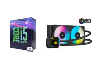 Intel Core i5-9600K Coffee Lake 6-Core 3.7 GHz (4.6 GHz Turbo) LGA 1151 (300 Series) 95W BX80684I59600K Desktop Processor Intel UHD Graphics 630 and Corsair Hydro Series iCUE H100i ELITE CAPELLIX 240mm Radiator Dual ML120 RGB PWM Fans Power