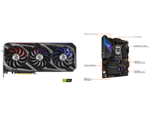 ASUS ROG Strix GeForce RTX 3090 24GB GDDR6X PCI Express 4.0 SLI Support Video Card ROG-STRIX-RTX3090-O24G-GAMING and ASUS ROG STRIX Z590-E GAMING WIFI LGA 1200 Intel Z590 SATA 6Gb/s ATX Intel Motherboard