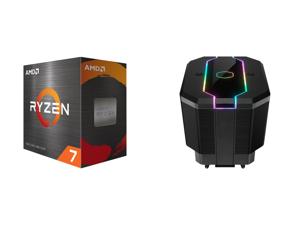 AMD Ryzen 7 5800X 3.8 GHz Socket AM4 100-100000063WOF Desktop Processor and Cooler Master MasterAir MA620M Dual Tower ARGB High Performance CPU Air Cooler 6 CDC 2.0 Heatpipes SF120R Fan Hexagon Strip Addressable RGB Lighting for AMD Ryzen/I