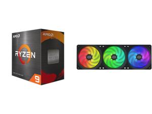 AMD Ryzen 9 5950X - Ryzen 9 5000 Series Vermeer (Zen 3) 16-Core 3.4 GHz Socket AM4 105W Desktop Processor - 100-100000059WOF and Cooler Master MasterFan SF360R ARGB 360mm Square Frame Fan