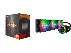 AMD Ryzen 9 5950X - Ryzen 9 5000 Series Vermeer (Zen 3) 16-Core 3.4 GHz Socket AM4 105W Desktop Processor - 100-100000059WOF and Cooler Master MasterLiquid ML360R ARGB Close-Loop AIO CPU Liquid Cooler 360 Radiator Dual Chamber Pump Addressa