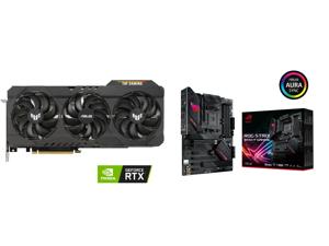 ASUS TUF Gaming GeForce RTX 3070 Ti 8GB GDDR6X PCI Express 4.0 Video Card TUF-RTX3070TI-O8G-GAMING and ASUS ROG STRIX B550-F GAMING AM4 AMD B550 SATA 6Gb/s ATX AMD Motherboard