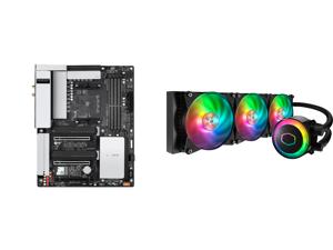 GIGABYTE B550 VISION D-P AM4 AMD B550 ATX Motherboard with Dual M.2 SATA 6Gb/s USB 3.2 Type-C with Thunderbolt 3 WIFI 6 Dual 2.5GbE LAN PCIe 4.0 and Cooler Master MasterLiquid ML360R ARGB Close-Loop AIO CPU Liquid Cooler 360 Radiator Dual C