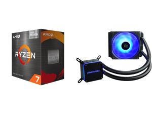 AMD Ryzen 7 5700G - Ryzen 7 5000 G-Series Cezanne (Zen 3) 8-Core 3.8 GHz Socket AM4 65W AMD Radeon Graphics Desktop Processor - 100-100000263BOX and Enermax LIQMAX III RGB 120 All-in-one CPU Liquid Cooler for AM4 / LGA1200 120mm Radiator Du