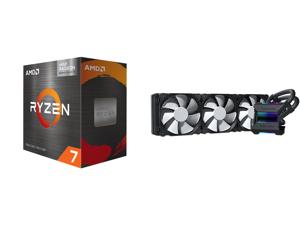 AMD Ryzen 7 5700G - Ryzen 7 5000 G-Series Cezanne (Zen 3) 8-Core 3.8 GHz Socket AM4 65W AMD Radeon Graphics Desktop Processor - 100-100000263BOX and Phanteks Glacier One 360MP D-RGB AIO Liquid CPU Cooler Infinity Mirror Pump Cap Design 3x S