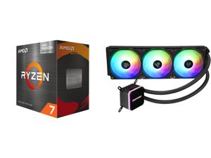 AMD Ryzen 7 5700G 3.8 GHz Socket AM4 100-100000263BOX Desktop Processor and Enermax LIQMAX III ARGB 360 Addressable RGB All-in-one CPU Liquid Cooler for AM4 / LGA1200 360mm Radiator Dual-Chamber Water Block ARGB Fan 5 Year Warranty