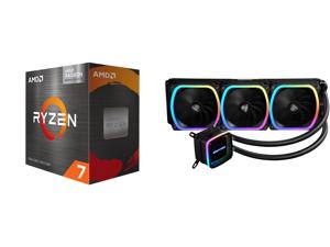 AMD Ryzen 7 5700G 3.8 GHz Socket AM4 100-100000263BOX Desktop Processor and Enermax AQUAFUSION 360 Addressable RGB All-in-one CPU Liquid Cooler for AM4 / LGA 1200 360mm Radiator Dual-Chamber Water Block SquA RGB Fans 5 Year Warranty