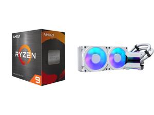 AMD Ryzen 9 5900X - Ryzen 9 5000 Series Vermeer (Zen 3) 12-Core 3.7 GHz Socket AM4 105W Desktop Processor - 100-100000061WOF and Phanteks Glacier One 240MPH D-RGB AIO Liquid CPU Cooler Infinity Mirror Pump Cap Design 2x Silent 120mm MP PWM