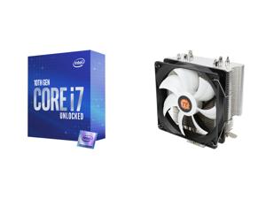 Intel Core i7 10th Gen - Core i7-10700K Comet Lake 8-Core 3.8 GHz LGA 1200 125W Desktop Processor w/ Intel UHD Graphics 630 and Thermaltake Contac Silent 12 150W INTEL/AMD with AM4 Support 120mm PWM CPU Cooler CL-P039-AL12BL-A