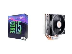 Intel Core i5-9600K Coffee Lake 6-Core 3.7 GHz (4.6 GHz Turbo) LGA 1151 (300 Series) 95W BX80684I59600K Desktop Processor Intel UHD Graphics 630 and Cooler Master Hyper 212 EVO V2 CPU Air Cooler with SickleFlow 120 PWM Fan Direct Contact Te