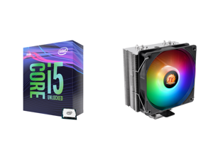 Intel Core i5-9600K Coffee Lake 6-Core 3.7 GHz (4.6 GHz Turbo) LGA 1151 (300 Series) 95W BX80684I59600K Desktop Processor Intel UHD Graphics 630 and Thermaltake UX210 5V Motherboard ARGB Sync 16.8 Million Colors 10 Addressable LED Intel/AMD