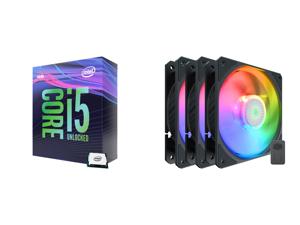 Intel Core i5-9600K Coffee Lake 6-Core 3.7 GHz (4.6 GHz Turbo) LGA 1151 (300 Series) 95W BX80684I59600K Desktop Processor Intel UHD Graphics 630 and Cooler Master SickleFlow 120 V2 Addressable RGB 3 in 1 Square Frame Fan Individually Custom