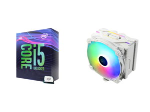 Intel Core i5-9600K Coffee Lake 6-Core 3.7 GHz (4.6 GHz Turbo) LGA 1151 (300 Series) 95W BX80684I59600K Desktop Processor Intel UHD Graphics 630 and Enermax ETS-F40 Addressable RGB CPU Air Cooler 200W+ TDP for Intel/AMD Universal Socket 4 D