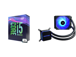 Intel Core i5-9600K Coffee Lake 6-Core 3.7 GHz (4.6 GHz Turbo) LGA 1151 (300 Series) 95W BX80684I59600K Desktop Processor Intel UHD Graphics 630 and Enermax LIQMAX III RGB 120 All-in-one CPU Liquid Cooler for AM4 / LGA1200 120mm Radiator Du