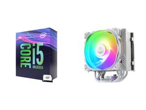 Intel Core i5-9600K Coffee Lake 6-Core 3.7 GHz (4.6 GHz Turbo) LGA 1151 (300 Series) 95W BX80684I59600K Desktop Processor Intel UHD Graphics 630 and Enermax ETS-T50 Axe Addressable RGB CPU Air Cooler 230W+ TDP for Intel/AMD Univeral Socket