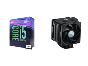 Intel Core i5-9600K Coffee Lake 6-Core 3.7 GHz (4.6 GHz Turbo) LGA 1151 (300 Series) 95W BX80684I59600K Desktop Processor Intel UHD Graphics 630 and Cooler Master MasterAir MA612 Stealth CPU Air Cooler 6 Heat Pipes Nickel Plated Base Alumin