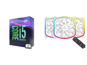 Intel Core i5-9600K Coffee Lake 6-Core 3.7 GHz (4.6 GHz Turbo) LGA 1151 (300 Series) 95W BX80684I59600K Desktop Processor Intel UHD Graphics 630 and Enermax SquA RGB PWM 120mm Case Fan Addressable RGB Sync Via Motherboard w/ RGB Control Box