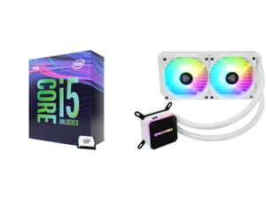 Intel Core i5-9600K Coffee Lake 6-Core 3.7 GHz (4.6 GHz Turbo) LGA 1151 (300 Series) 95W BX80684I59600K Desktop Processor Intel UHD Graphics 630 and Enermax LIQMAX III ARGB 240 for AM4 / LGA1200 240mm Radiator Dual-Chamber Water Block Addre
