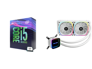 Intel Core i5-9600K Coffee Lake 6-Core 3.7 GHz (4.6 GHz Turbo) LGA 1151 (300 Series) 95W BX80684I59600K Desktop Processor Intel UHD Graphics 630 and Enermax AQUAFUSION 240 Addressable RGB All-in-one CPU Liquid Cooler for AM4 / LGA1200 240mm