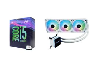 Intel Core i5-9600K Coffee Lake 6-Core 3.7 GHz (4.6 GHz Turbo) LGA 1151 (300 Series) 95W BX80684I59600K Desktop Processor Intel UHD Graphics 630 and Enermax LIQMAX III ARGB 360 Addressable RGB All-in-one CPU Liquid Cooler for AM4 / LGA1200