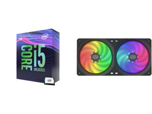 Intel Core i5-9600K Coffee Lake 6-Core 3.7 GHz (4.6 GHz Turbo) LGA 1151 (300 Series) 95W BX80684I59600K Desktop Processor Intel UHD Graphics 630 and COOLERMASTER MFX-B2D2-18NPA-R1 MasterFan SF240R ARGB Fan