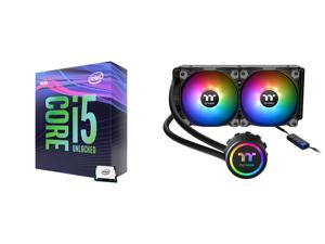 Intel Core i5-9600K Coffee Lake 6-Core 3.7 GHz (4.6 GHz Turbo) LGA 1151 (300 Series) 95W BX80684I59600K Desktop Processor Intel UHD Graphics 630 and Thermaltake Water 3.0 240 ARGB Sync Edition CL-W233-PL12SW-B Water Cooler