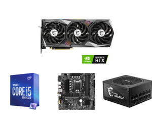 MSI Gaming GeForce RTX 3070 8GB GDDR6 PCI Express 4.0 Video Card 3070 GAMING Z TRIO 8G LHR and Intel Core i5-10600K Comet Lake 6-Core 4.1 GHz LGA 1200 125W BX8070110600K Desktop Processor Intel UHD Graphics 630 and MSI B560M PRO-VDH WIFI LG