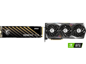 MSI SPATIUM Series M.2 2280 1TB PCI-Express 4.0 x4 NVMe 1.3 3D NAND Internal Solid State Drive (SSD) M470 and MSI Gaming GeForce RTX 3070 8GB GDDR6 PCI Express 4.0 Video Card 3070 GAMING Z TRIO 8G LHR