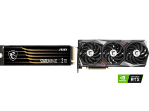 MSI SPATIUM Series M.2 2280 2TB PCIe Gen4x4 NVMe 1.4 3D NAND Internal Solid State Drive (SSD) M480 and MSI Gaming GeForce RTX 3070 8GB GDDR6 PCI Express 4.0 Video Card 3070 GAMING Z TRIO 8G LHR